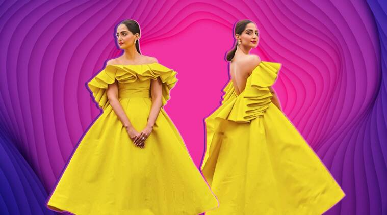 sonam kapoor,sonam kapoor cannes, sonam kapoor cannes look, sonam kapoor cannes 2019, sonam kapoor cannes photo, indian express, indian express news