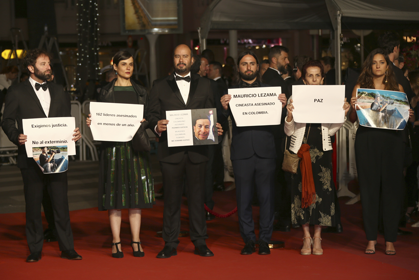 Sorry We Missed You Cannes protest