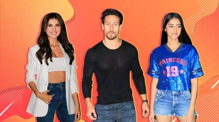 Tiger Shroff, Ananya Pandey, Tara Sutaria, SOTY 2 music launch, SOTY 2, student of the year, SOTY 1, alai bhatt, karan johar, indian express, indian express news
