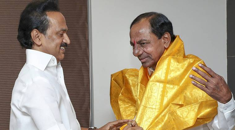 'Don't see chance for Third Front': Stalin after meeting KCR