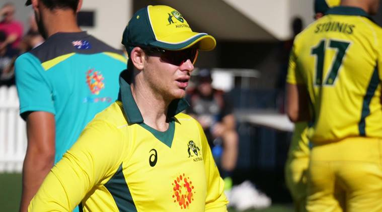 Steve Smith during the warm up game against New Zealand
