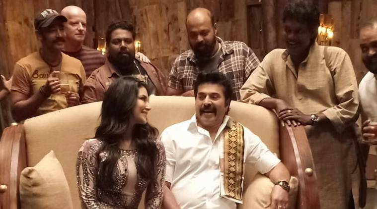 Sunny Leone and Mammootty in Madhura Raja song