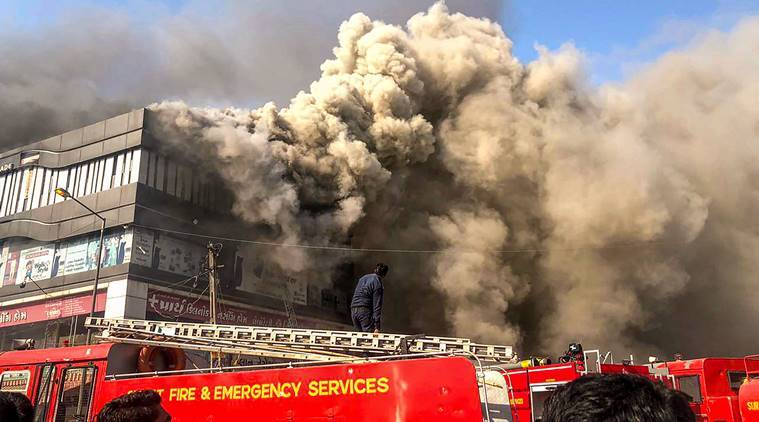 Surat fire, Surat coaching centre fire, Gujarat fire, Gujarat coaching centre fire, Gujarat fire accident, Takshashila Complex fire, coaching centre fire, surat fire dead, indian express