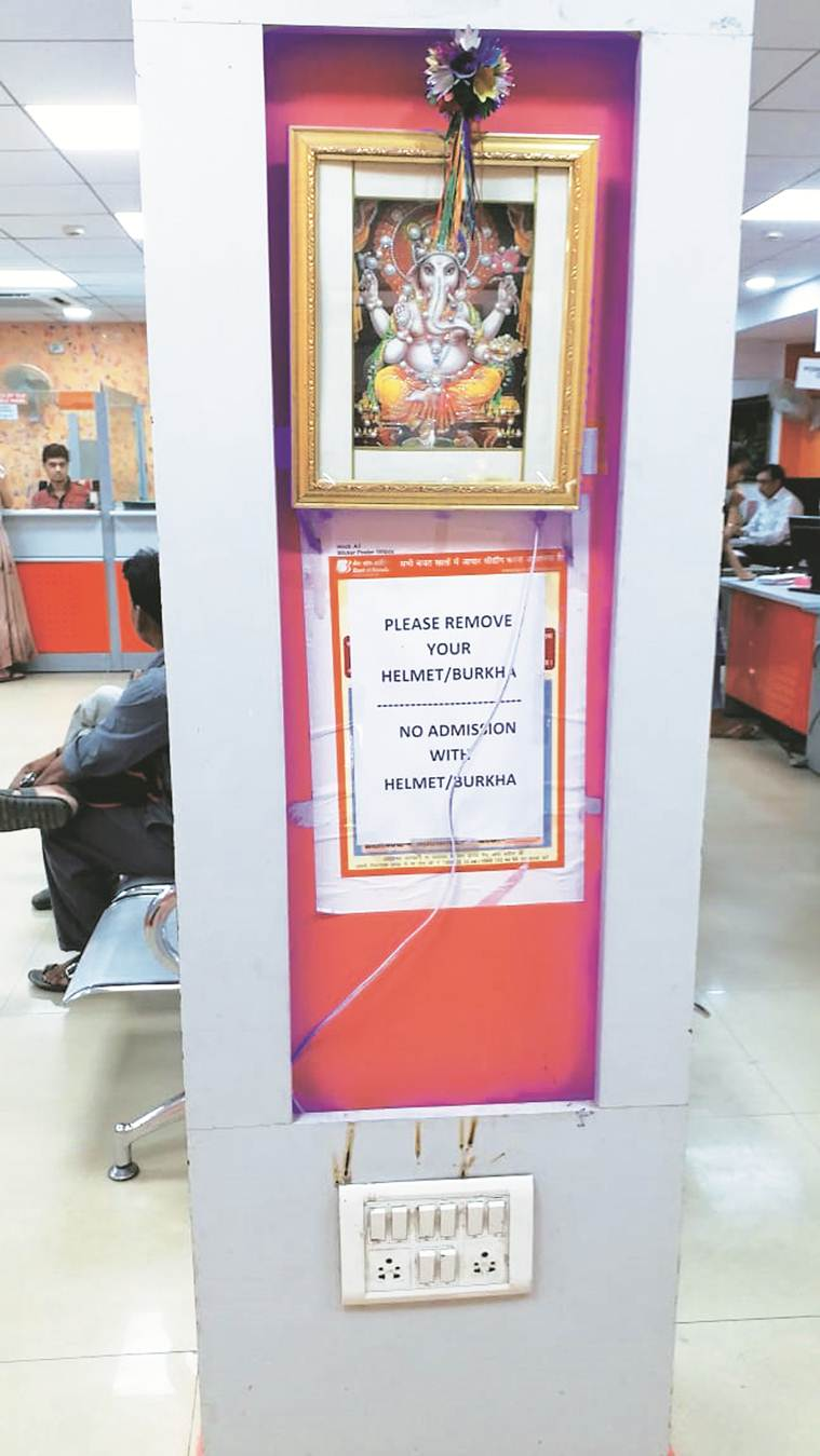 Bank puts up note barring burkha entry, replaces it with 'scarves' after locals protest