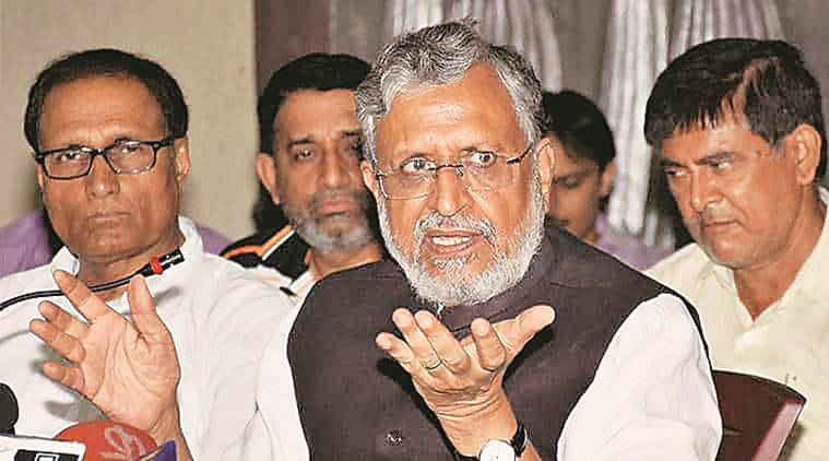 Bihar: Angry with waterlogging and piling of garbage, people gherao Sushil Modi's house