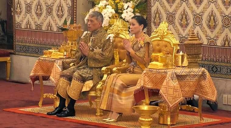 thailand, thai king coronation, thailand king cornation ceremony, king maha vajiralongkorn, maha vajiralongkorn, indian express