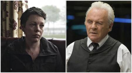 Olivia Colman and Anthony Hopkins the father