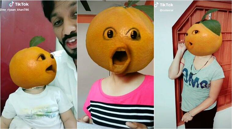 tiktok, tiktok india, tiktok funny videos, tiktok funny challenges, tiktok orange face, tiktok latest videos, funny news, indian express, viral challenge
