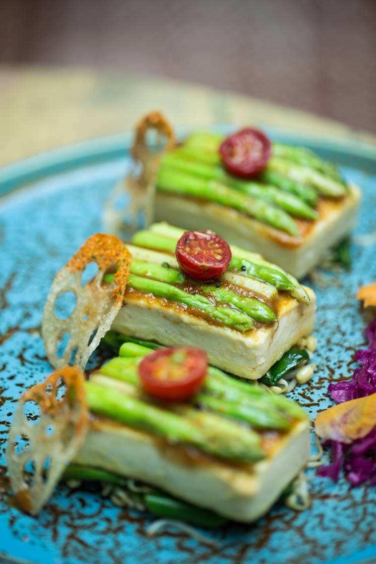 hanami, hanami menu, tofu, asparagus, food recipe, indian express, indian express news