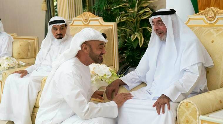 Images show rarely seen UAE ruler greet sheikhs for Ramadan