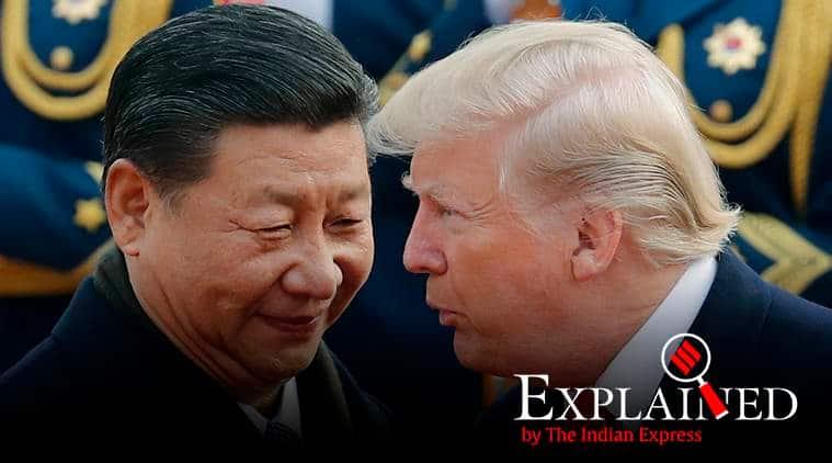 donald trump, trump vs china, us vs china, us companies, us companies n china, us china relations, us china trade relations, us china trade tariffs, indiane express