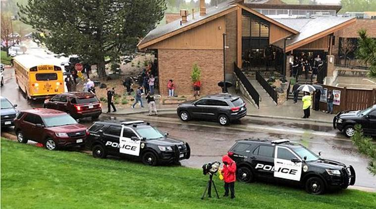 shooting, us shooting, shootin in us school, Colorado school shooting, shooting in Colorado school, shooting in stem school, Highlands Ranch, Colorado, shooting in Colo, students shoot, world news, indian express