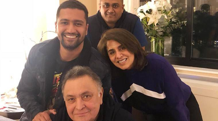 Vicky Kaushal visits Rishi Kapoor in New York