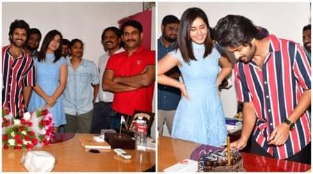 Vijay Deverakonda celebrates birthday on the sets of Kranthi Madhav film