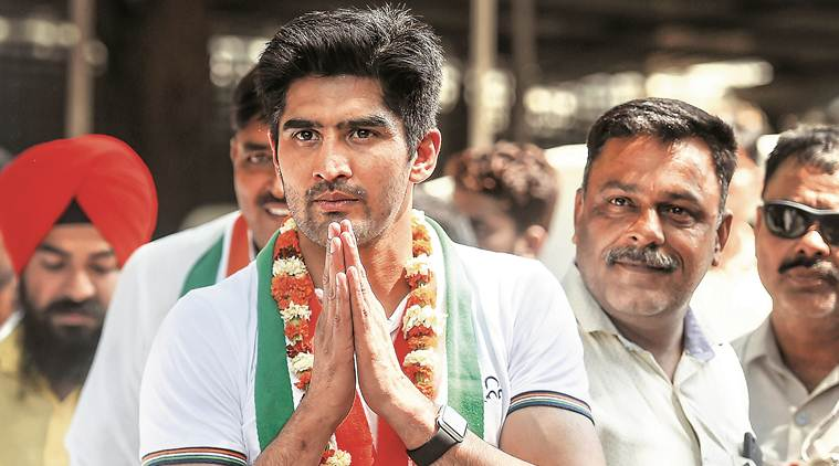 vijender singh, vijender singh contesting elections, commonwealth games, vijender singh joins congress