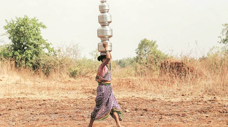 water crisis, maharashtra water crisis, maharashtra drought, water level, groundwater level, indian express