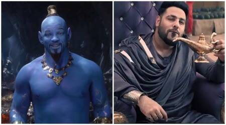 will smith on badshah song in aladdin