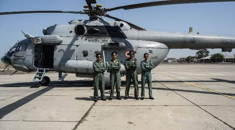 IAF's First All-women Crew Flies Mi-17 V5 Helicopter