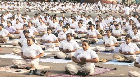 international yoga day, washington monument, us congress, yoga day celebrations, national mall, washington, unga, pm modi, world news, indian express