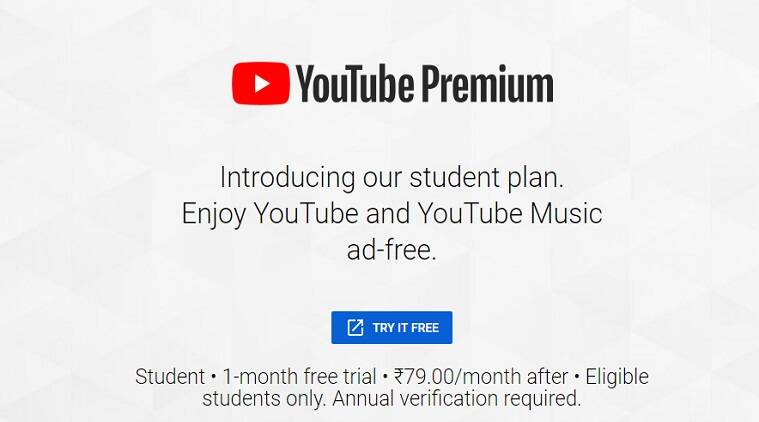 youtube, youtube music, youtube premium, youtube music premium, youtube student plan, youtube student offer, google youtube, youtube music premium at Rs 59, youtube premium at Rs 79