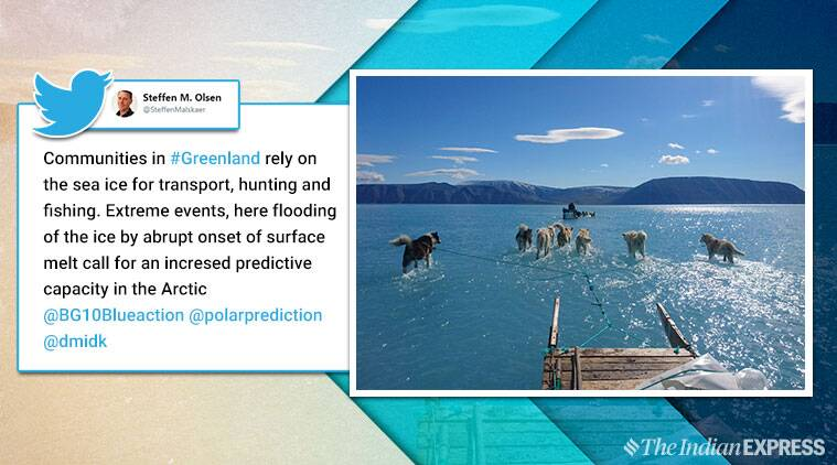 Greenland, Greenland ice melt, Greenland icemelt, Steffen Olsen, scientist Greenland, Danish Meteorological Institute , unusual warm weather Greenland, indian express,