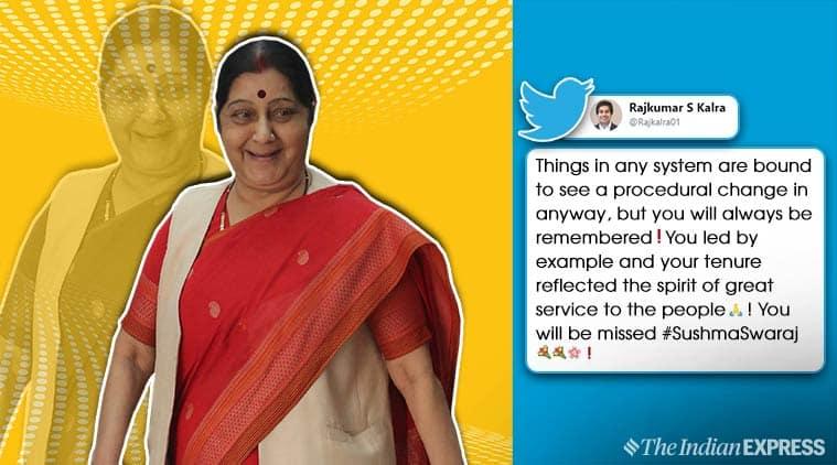sushma swaraj, sushma swaraj MEA, new foreign minister, sushma swaraj not part of cabinet, sushma swaraj quit ministry, people miss sushma swaraj, sushma swaraj mea tenure, Subrahmanyam Jaishankar, viral news, india news, indian express
