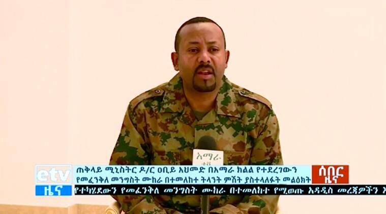 Ethiopia, Ethiopia coup attempt, Ethiopia failed coup, Army general coup attempt, Ethiopia army general coup attempt, Abiy Ahmed,  Ethiopia Prime Minister, Abiy Ahmed World news, Indian Express