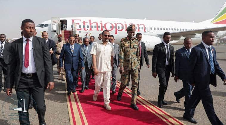 Ethiopian leader Abiy arrives in Sudan to meet head of ruling military council in mediation bid