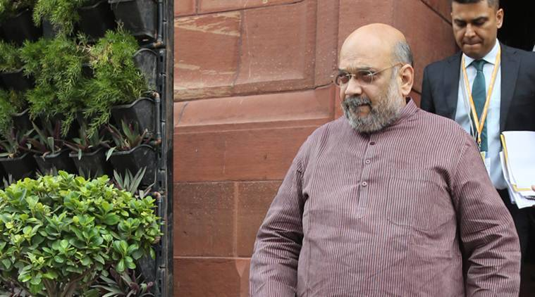 Amit Shah, amit shah in parliament, president rule in J&K, J& reservation bill, president rule extension in J&K, parliament monson session, india news