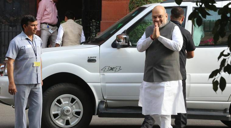 Amit Shah, Amit Shah in Gujrat, Amit Shah in Ahmedabad, Amit Shah first visit to Gujarat, Indian Express news.