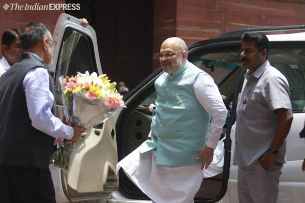 amit shah takes charge as home minister