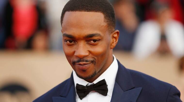 Actor Anthony Mackie arrives at the 22nd Screen Actors Guild Awards in Los Angeles