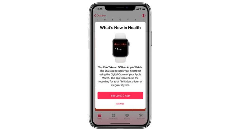 Apple Watch ECG feature and how users have to set it up in the app.