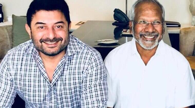 arvind swami will next be seen in nagasooran film karthick naren