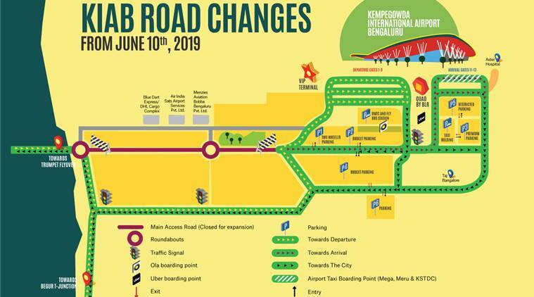 Bangalore-Bengaluru-international-airport-new-route-map-main-access-road-till-2021