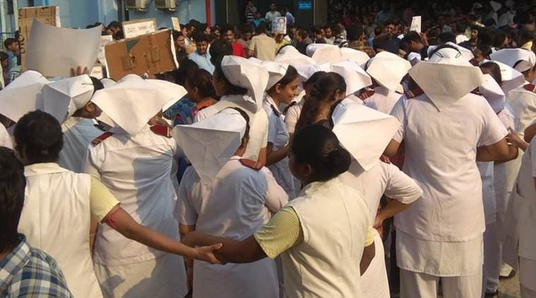 Delhi, Delhi News, AIIMS, AIIMS Resident doctors protest, West Bengal doctors protest, Mamata Banerjee doctors protest, attack on doctor in West Bengal, India news, Indian Express