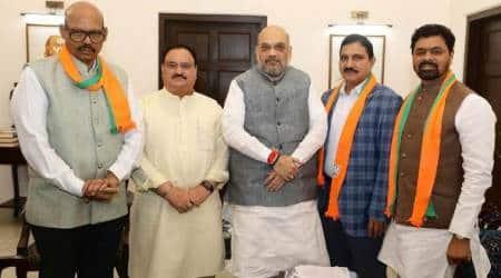 rajya sabha, tdp mps, tdp lawmakers join bjp, tdp mps join bjp, telugu desam party, venkaiah naidu, rajya sabha tdp mps, india news, Indian Express