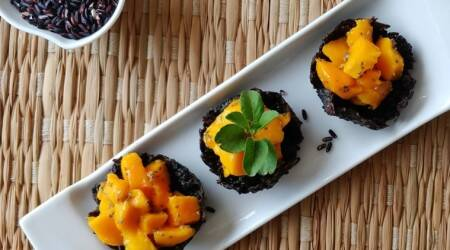 black rice, black rice recipes, mango recipes, dessert recipes