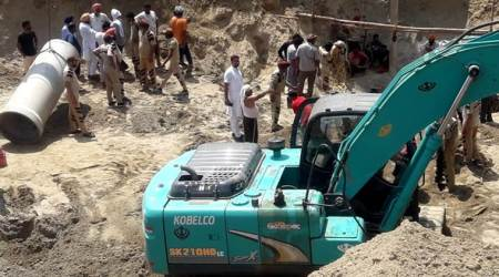 Borewell, child falls in Borewell, NDRF rescue, Punjab, Sunam child falls in borewell, India news, Sangrur, Punjab Police, Indian express