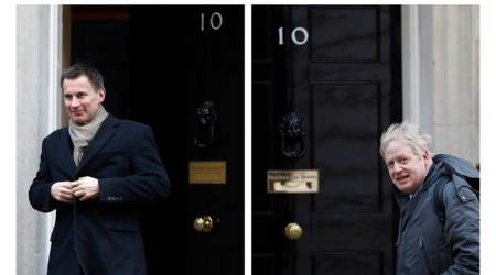 Boris Johnson, Boris Johnson UK, UK Boris Johson, Jeremy Hunt, Jeremy Hunt uk, Jeremy Hunt UK pm, Borish Johnson UK PM, UK PM, UK pm race, UK prime minister race, Brexit, UK elections, indian express news