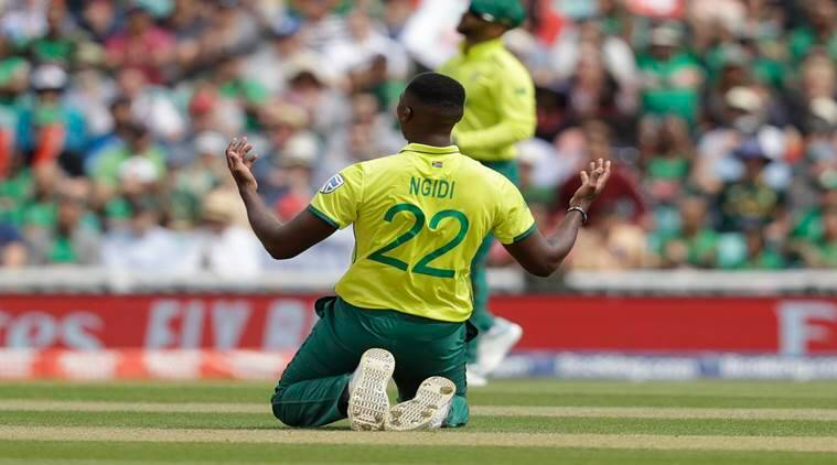 ICC World Cup 2019, World cup 2019,South Africa match, South Africa fast bowler,Lungi Ngidi, Lungi Ngidi injury, sports news, indian express