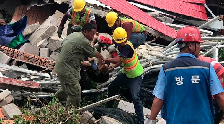 Cambodia building collapse, Building collapse in Cambodia, Cambodia news, World news, Indian Express
