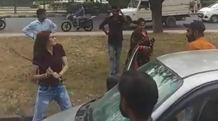 Mohali woman attacks man with iron rod after their cars collide