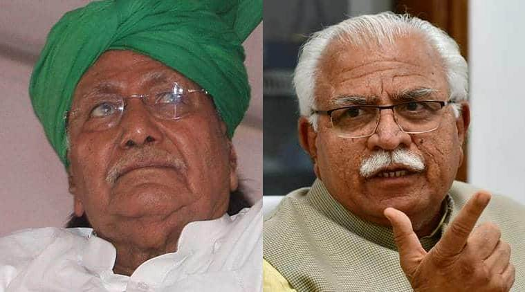 Chautala, Chautala Khattar, Manohar LaL Khattar, Om Prakash Chautala, INDL Haryana, Haryana INLD, Indian Express, latest news