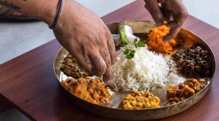 Dham thali, khatta mutton dish, Kangri cuisine, kulth ki dal, Chef Shiv Kumar Sharma