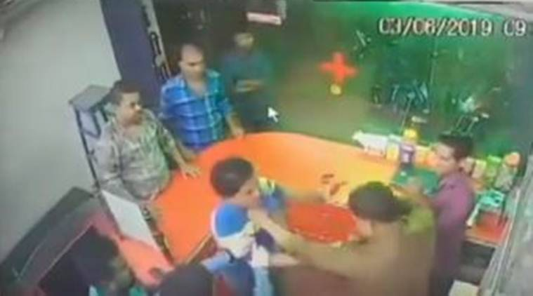 Caught on camera: Bihar BJP minister's brother thrashes chemist for not standing up