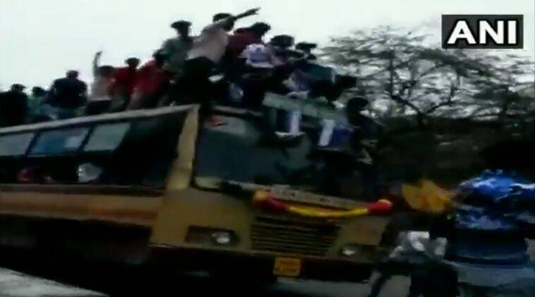chennai news, tamil nadu news, bus day celebrations, bus day arrest, chennai bus day, chennai police, india news, indian express