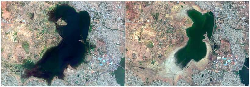 Satellite pictures show why Chennai is facing severe water