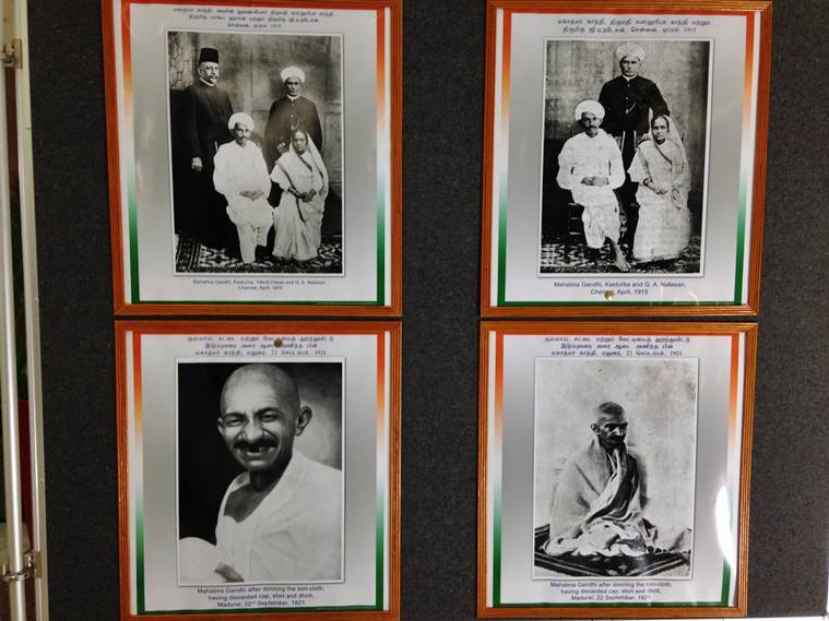 Gandhiana at Chennai International Airport makes heads turn