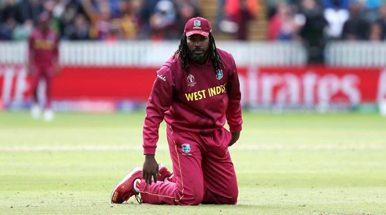 Christ gayle, Chris Gayle west indies, Gayle world cup 2019, Gayle world cup, Cricket world cup 2019, 2019 cricket world cup, 2019 world cup Chris Gay, Shai Hope, Marlon Samuels, West Indies 2019 World cup, west indies cricket, indian express sports, sports news
